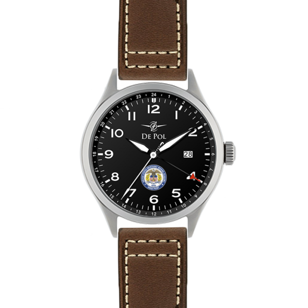 Depol New Watch Black Leather